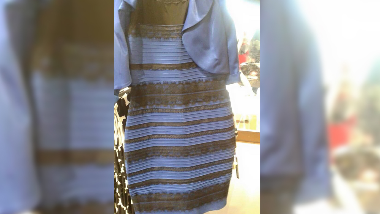 White and gold and blue and black dress - Basically Every Female Meteorologist Is Wearing The Same Dress And It S Freaky As Hell Entertainment Tonight