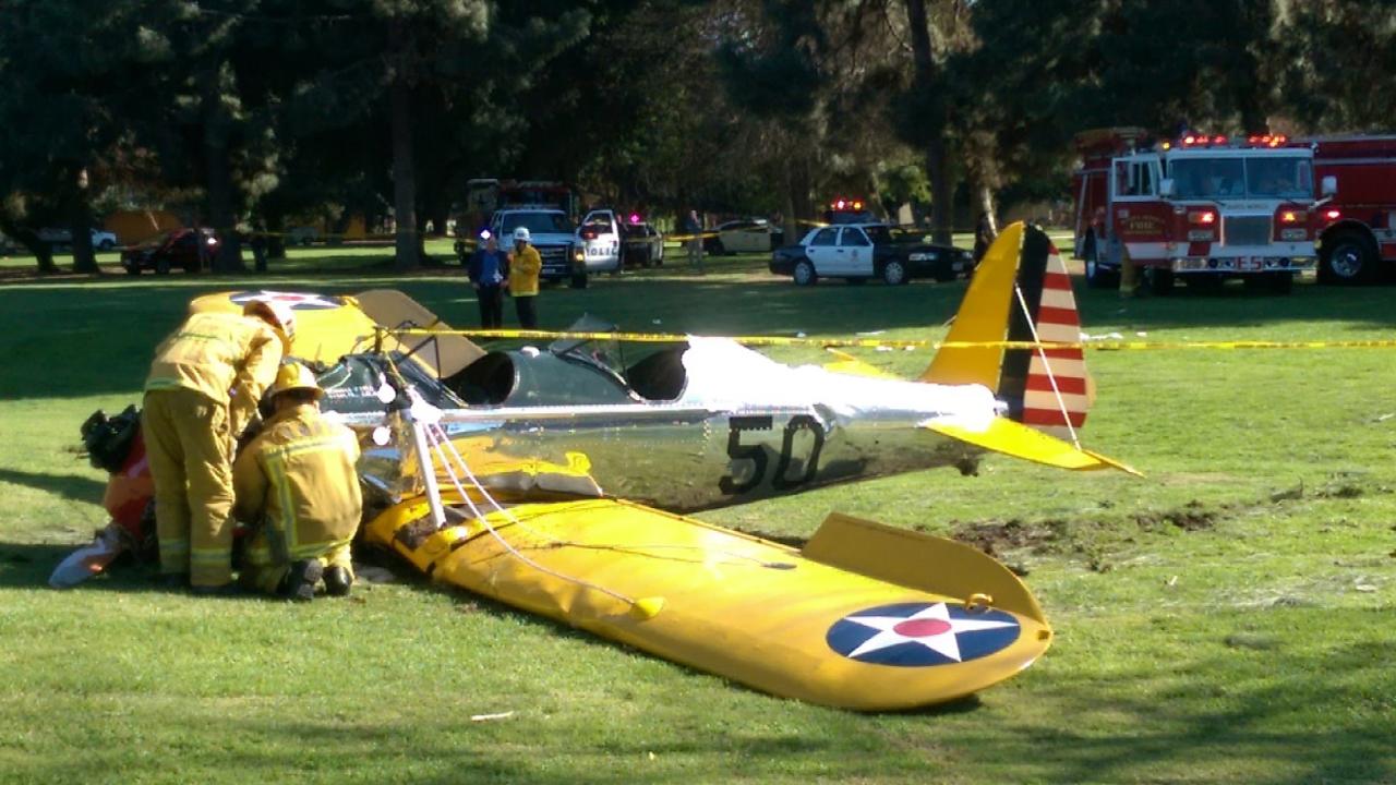 Harrison Ford Hospitalized After Crashing Plane