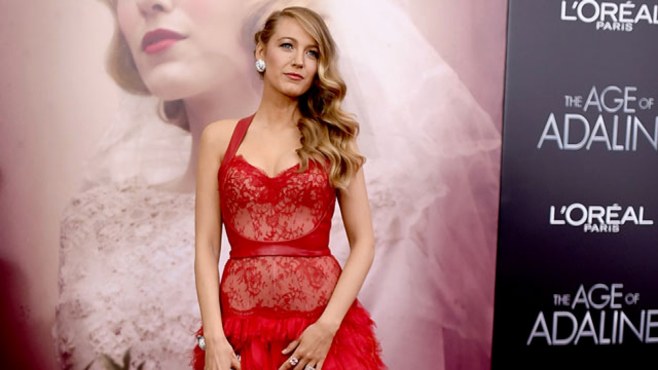 1d93b3c6c17 Blake Lively Works a Stunning Red Lace Dress, See-Through Jumpsuit ...