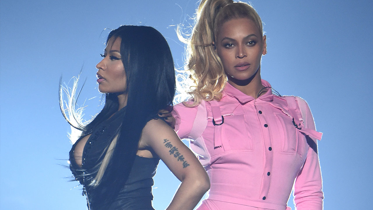 916ab1f2eed Beyonce and Nicki Minaj Pull Off  Epic  Performance of  Feeling Myself  at  Tidal X  10 20 Concert