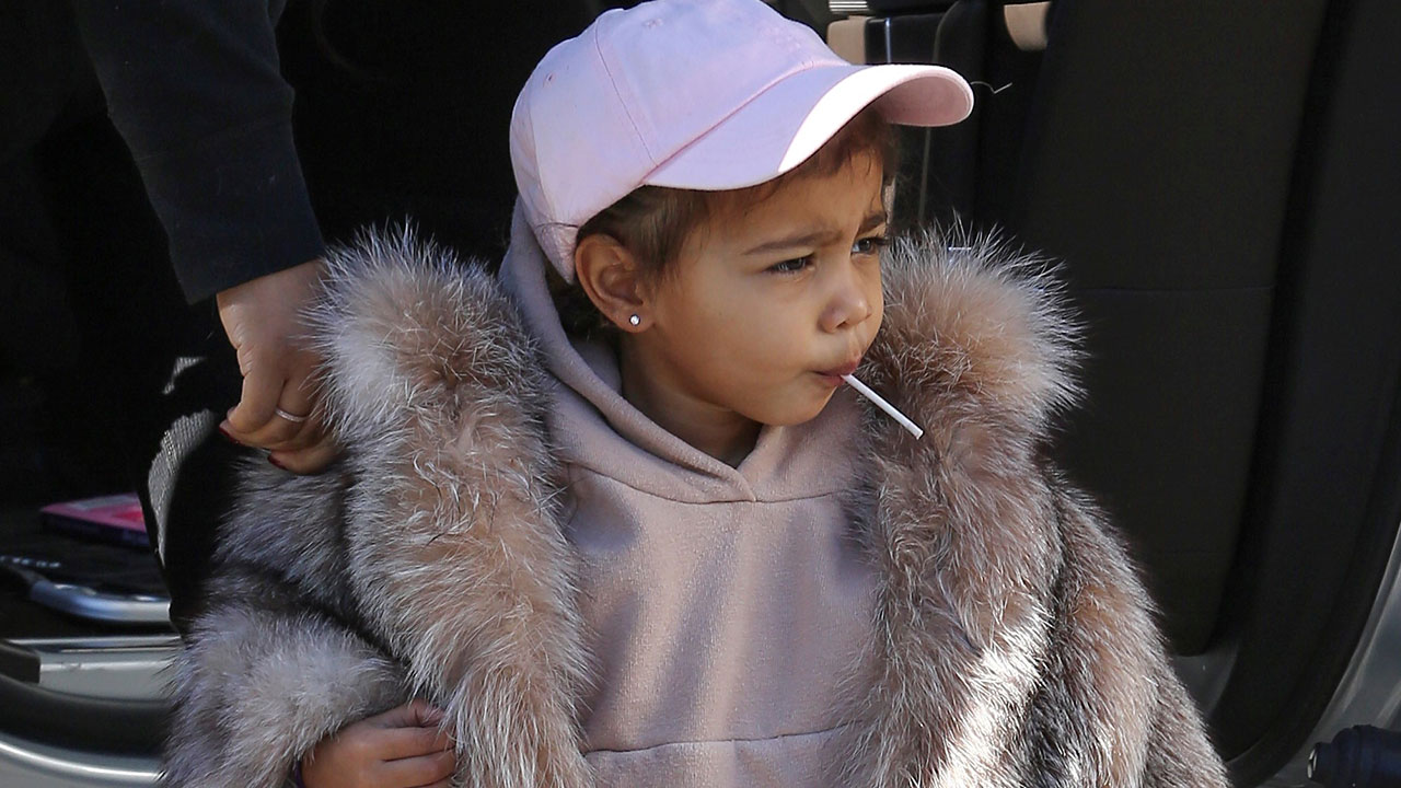 a1d181c45bcc Kim Kardashian Brags About North West s  Swag  in a  3