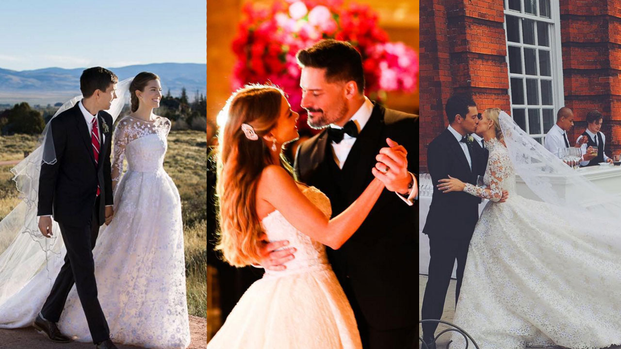 Best Celebrity Wedding Dresses Of 2015 Ranked Entertainment Tonight