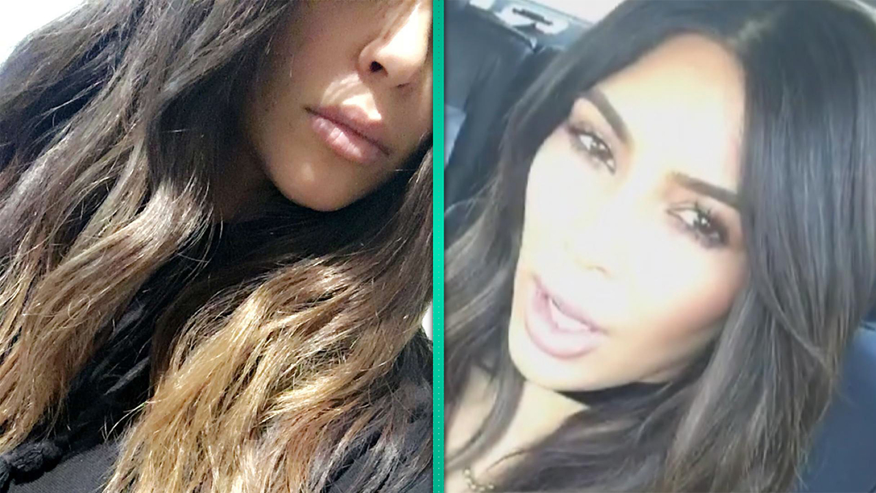 Kim kardashian debuts new ombre do after getting a midnight kim kardashian debuts new ombre do after getting a midnight haircut entertainment tonight pmusecretfo Choice Image