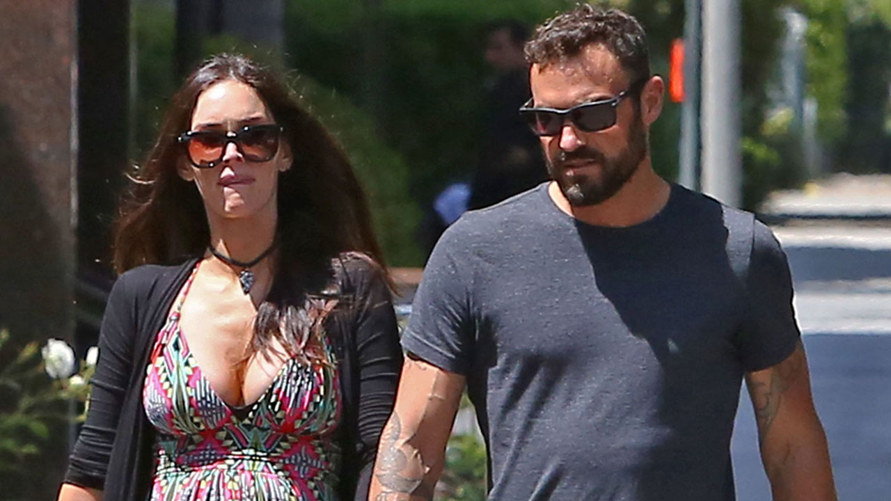 Pregnant Megan Fox and Ex Brian Austin Green Spotted Grabbing Lunch