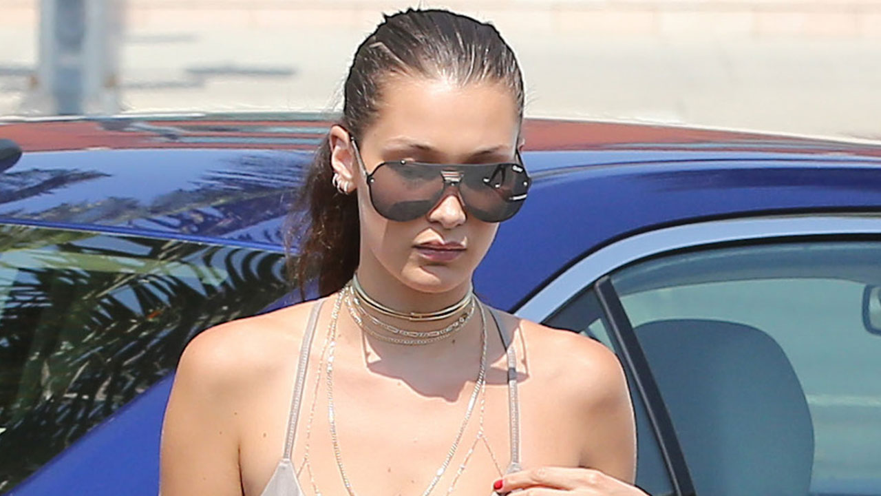 7dc6a52b12 Bella Hadid Leaves Little to the Imagination While Running Errands In Very  Tight Spandex