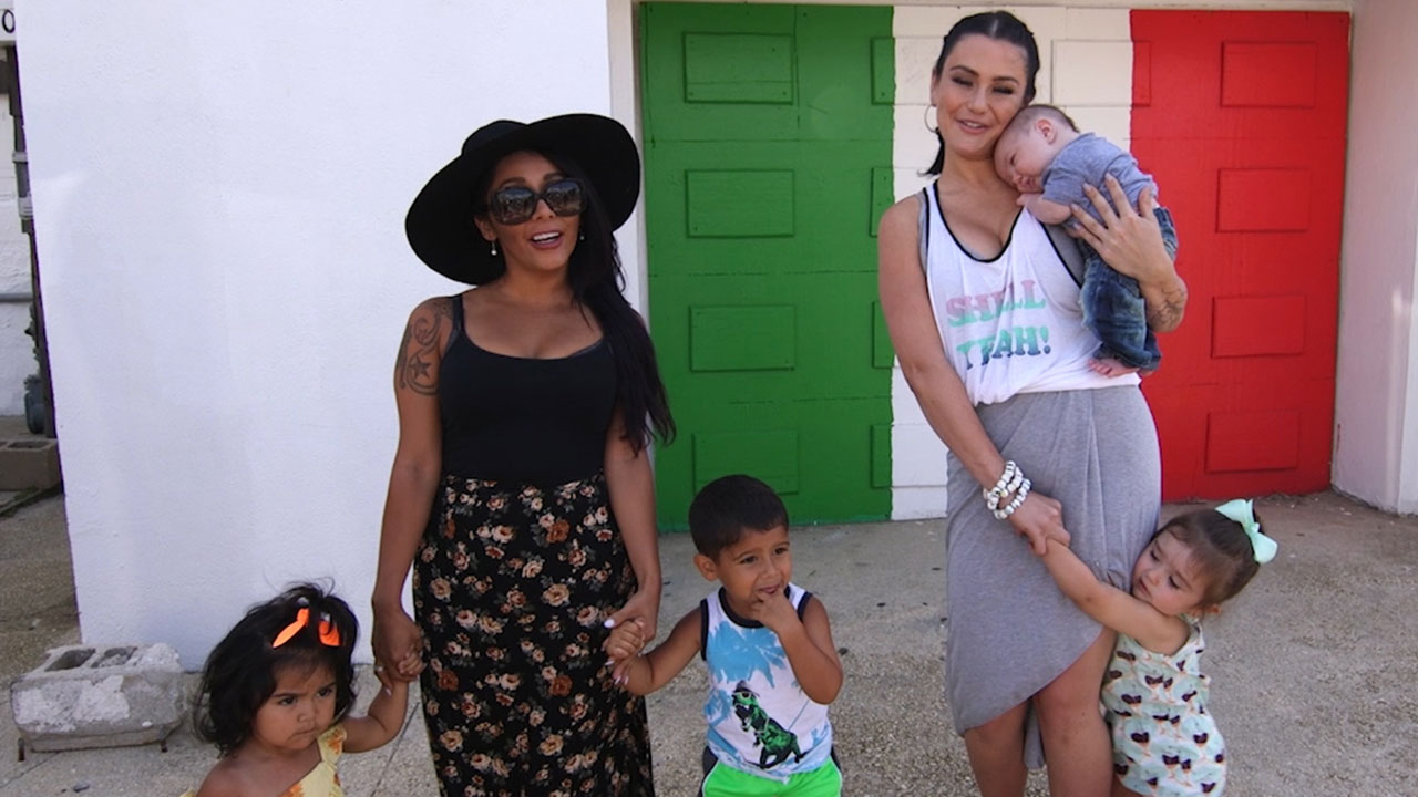 Exclusive Snooki Jwoww Bring Their Kids Back To The Jersey Shore