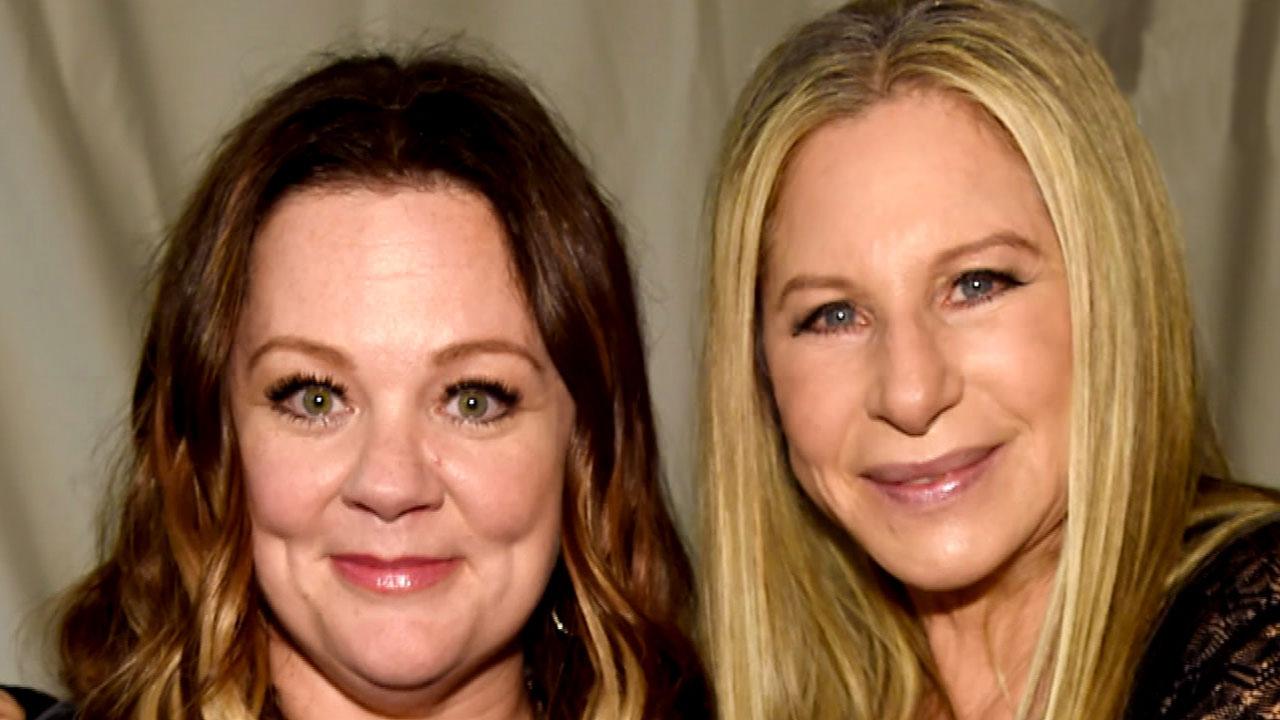 Melissa McCarthy Keeps Barbra Streisand Laughing Behind the