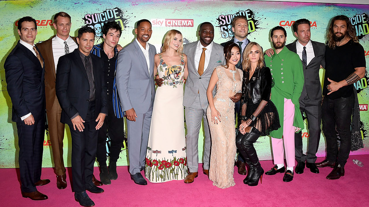 2a43a2920437 Ben Affleck and His Fellow Justice League Members Crash the  Suicide Squad   Premiere in London