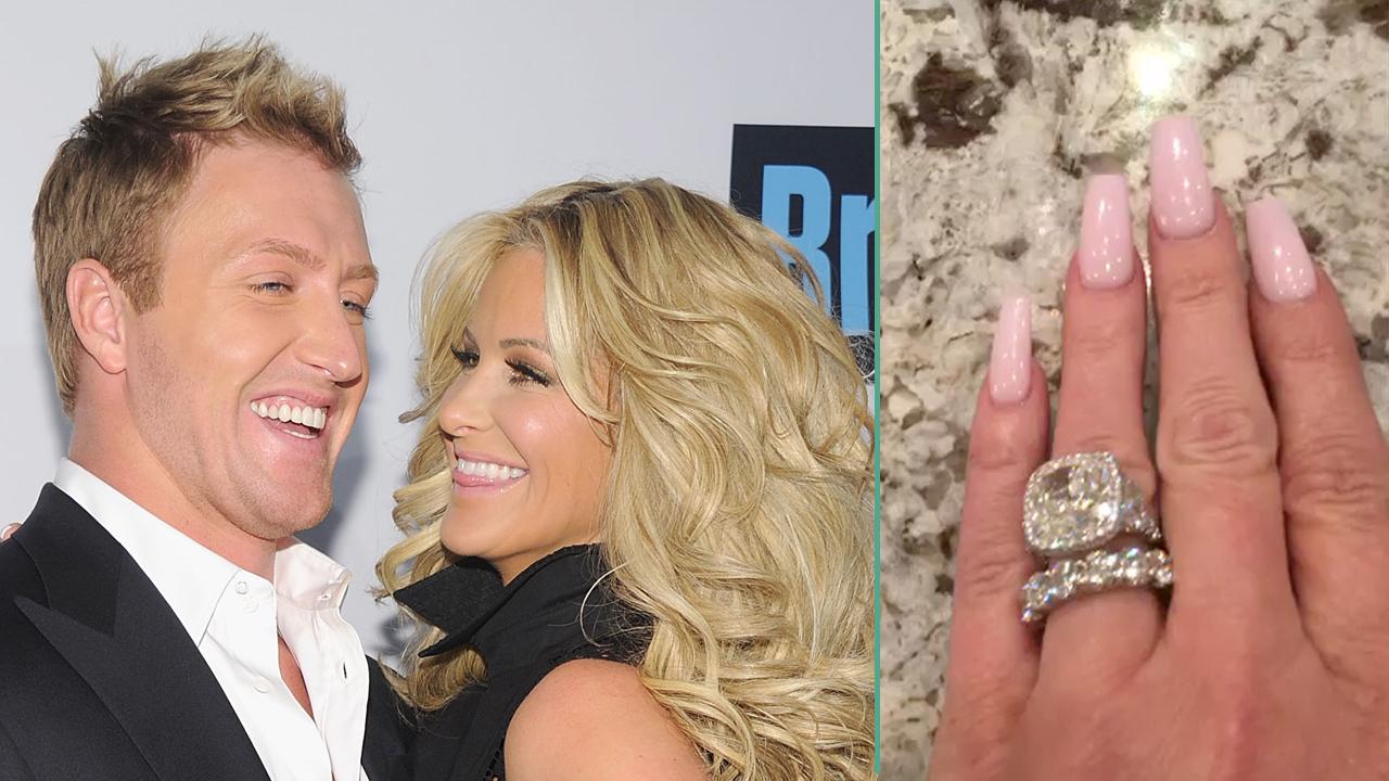 Kim Zolciak Shows Off New Diamond Ring From Husband Kroy Biermann For Their Fifth Wedding Anniversary