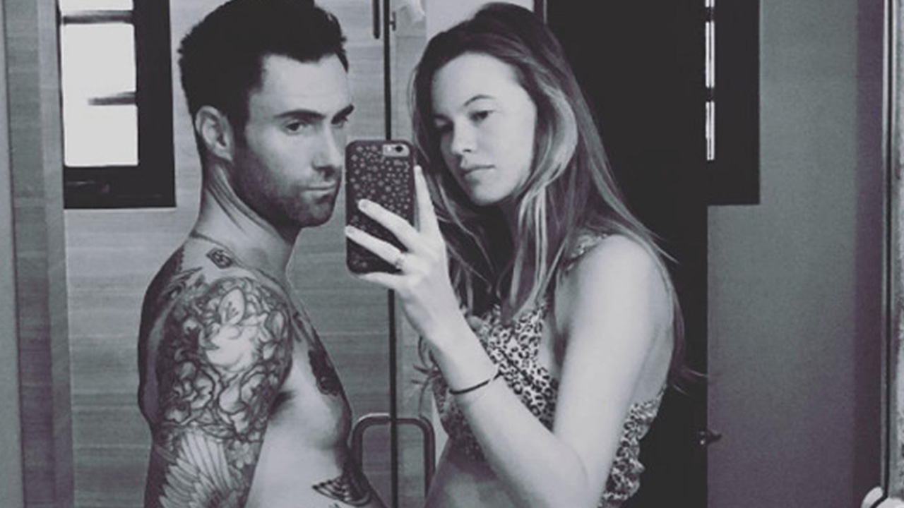 ea8ce6c35 Adam Levine and Behati Prinsloo Share First Photo of Their Baby Girl ...