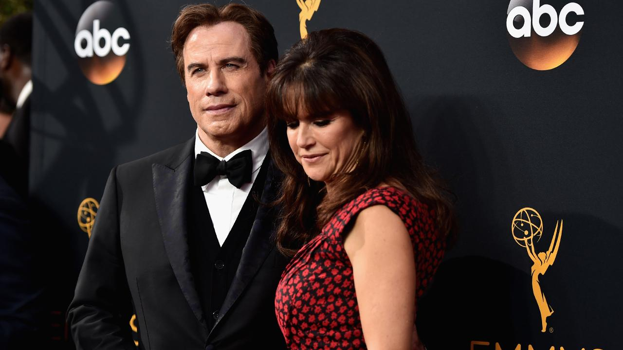 John Travolta and Kelly Preston Walk the Cannes Red Carpet