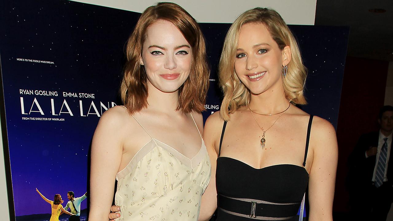 Emma Stone Brings Jennifer Lawrence as Her Date to  La La Land  Screening   See the Cute Pics! eb6f23ab5
