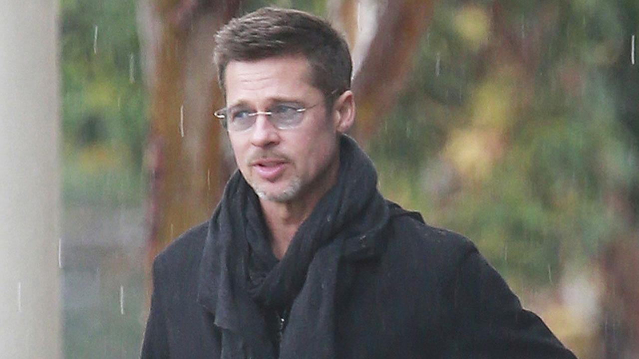 Brad Pitt is Handsome in the Rain as Angelina Jolie Lands New Fragrance Gig: Pic!   Entertainment Tonight
