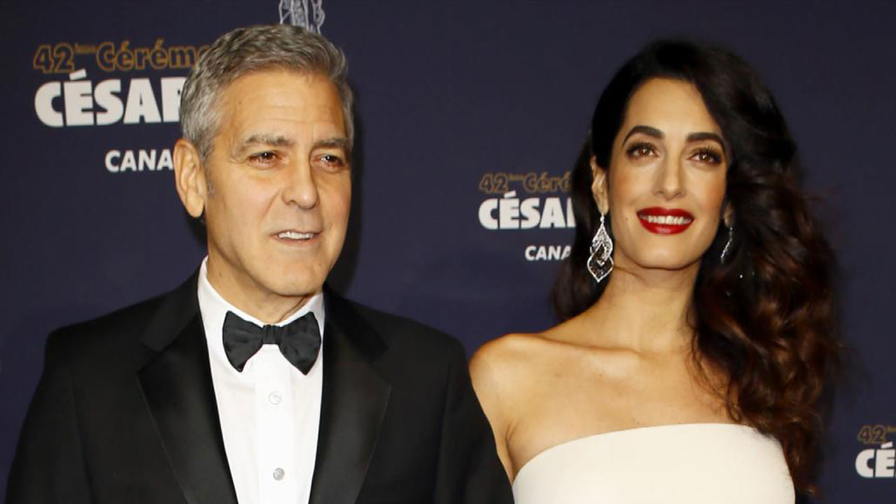 Amal Clooney Goes Glam, Shows Off Baby Bump in Stunning