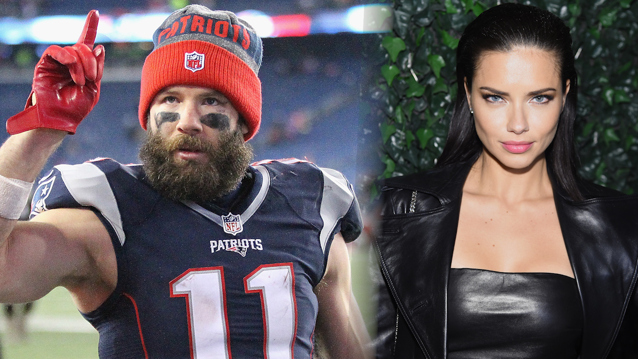 Model Adriana Lima And New England Patriots Julian Edelman Split