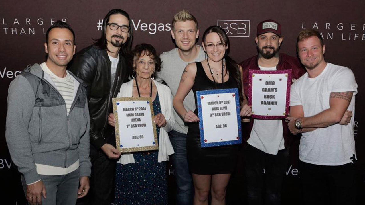 EXCLUSIVE: See a 96-Year-Old Backstreet Boys Fangirl Meet Her Idols: 'They  Keep Me Young!'