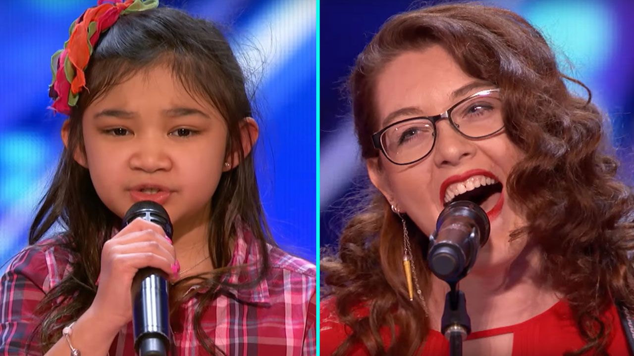 Americas got talent 2017 celine - A 9 Year Old Girl Named Celine Wows America S Got Talent Judges With My Heart Will Go On Cover 9news Com