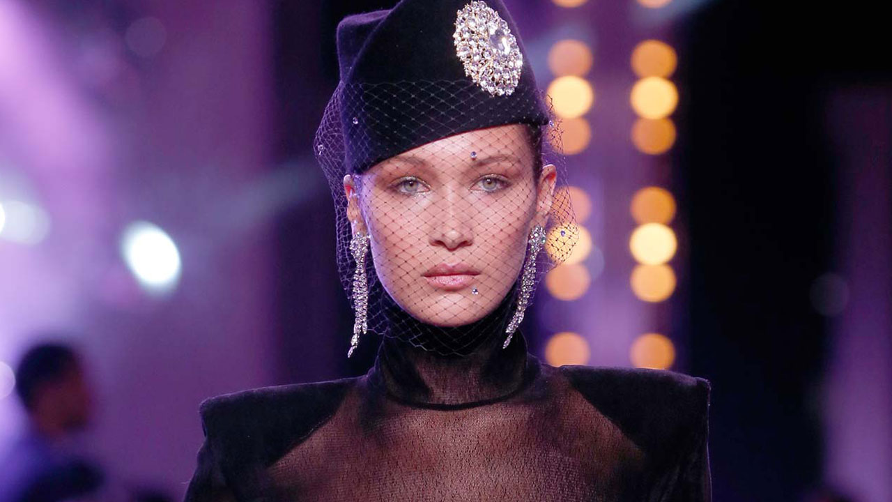 abd1feb85f7 Bella Hadid Rocks a Totally See-Through Black Top at Paris Haute Couture  Fashion Week