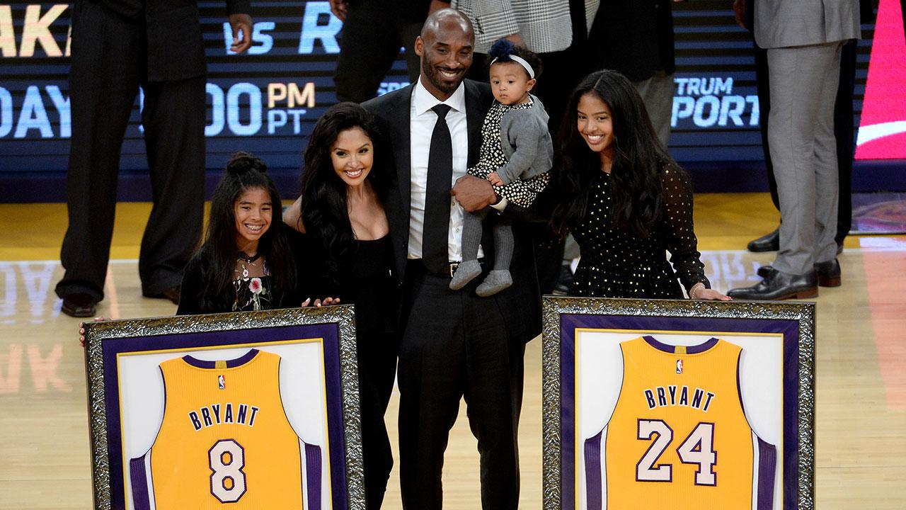a2d60e2bc Kobe Bryant s Family Joins Him for Numbers Retirement Ceremony With the Los  Angeles Lakers