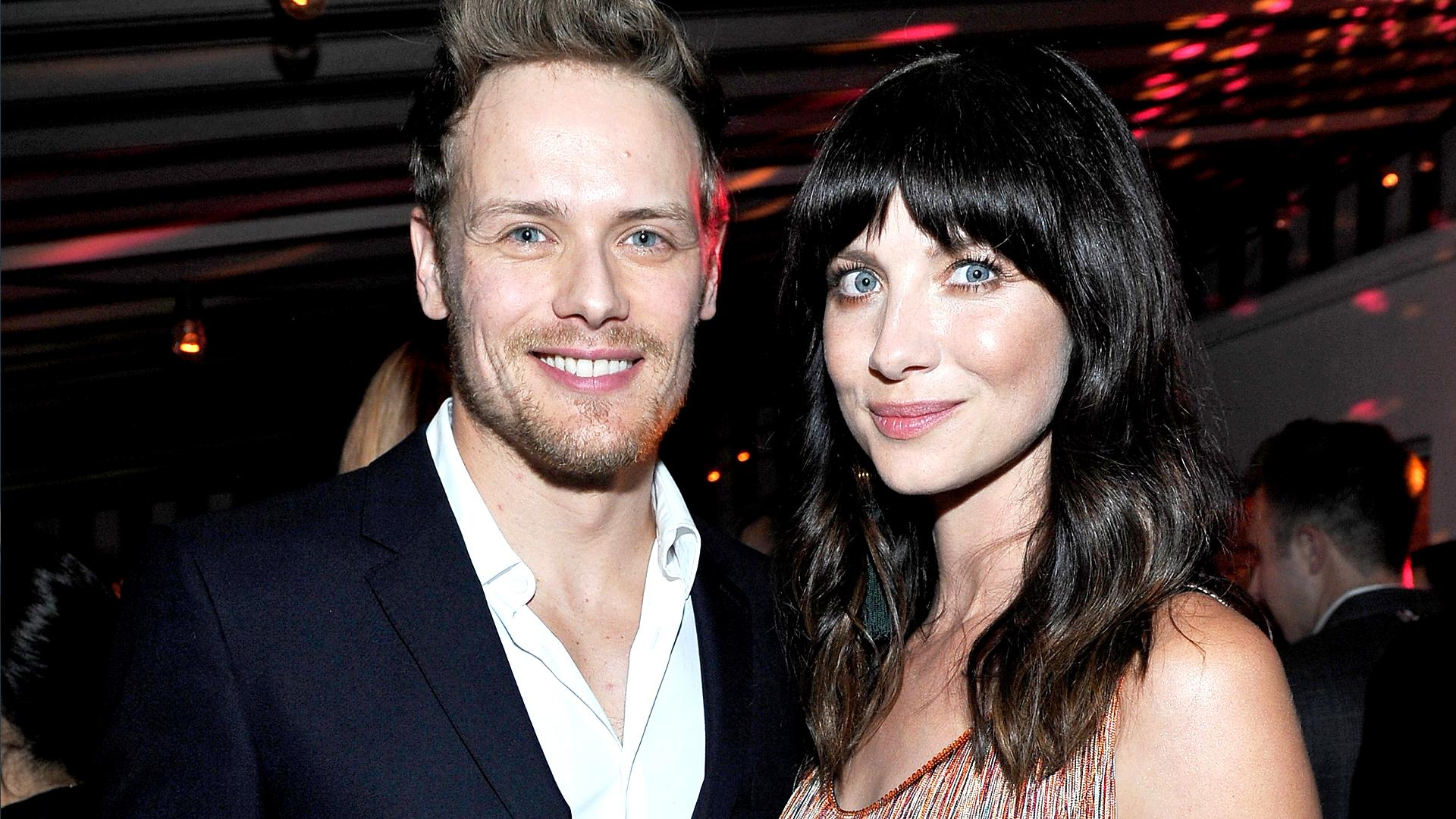 Outlander' Stars Sam Heughan and Caitriona Balfe Party Together