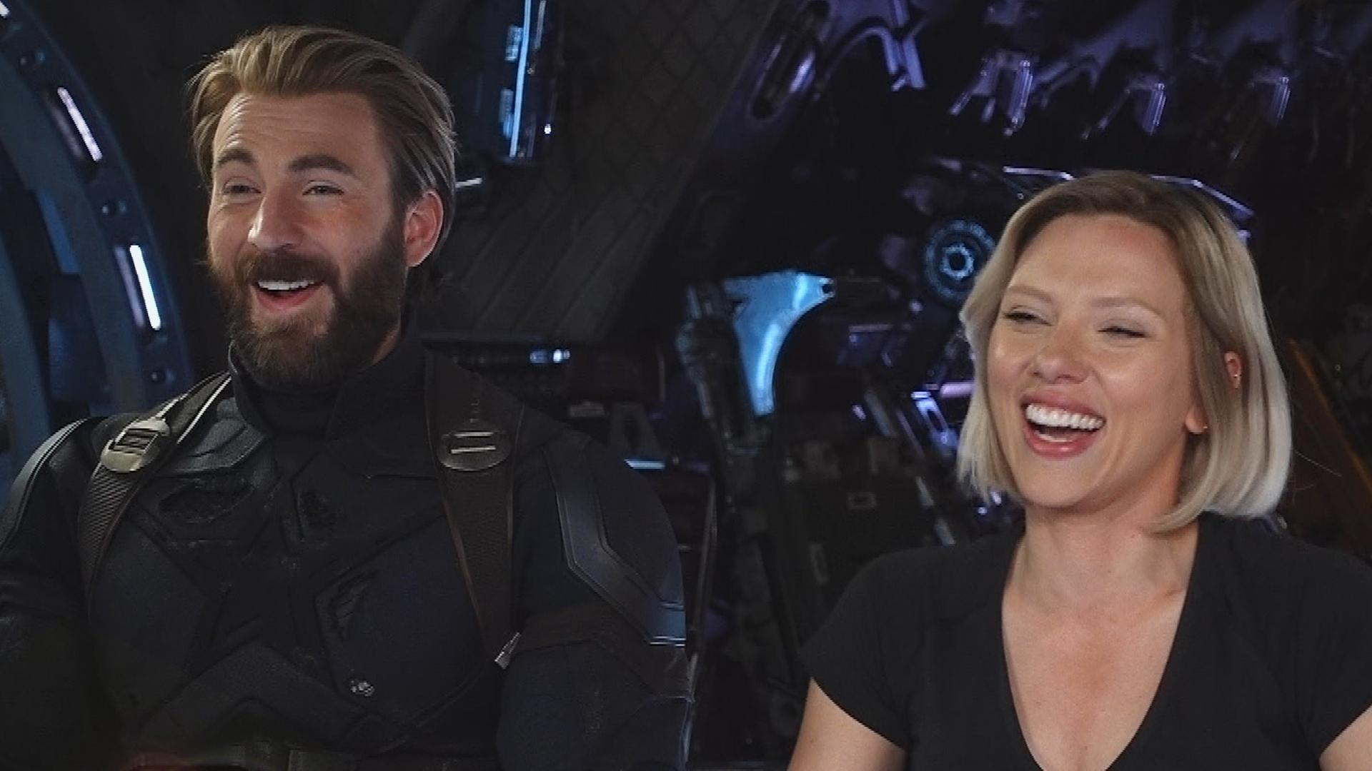 Chris Evans and Scarlett Johansson Talk Romance and 'Running