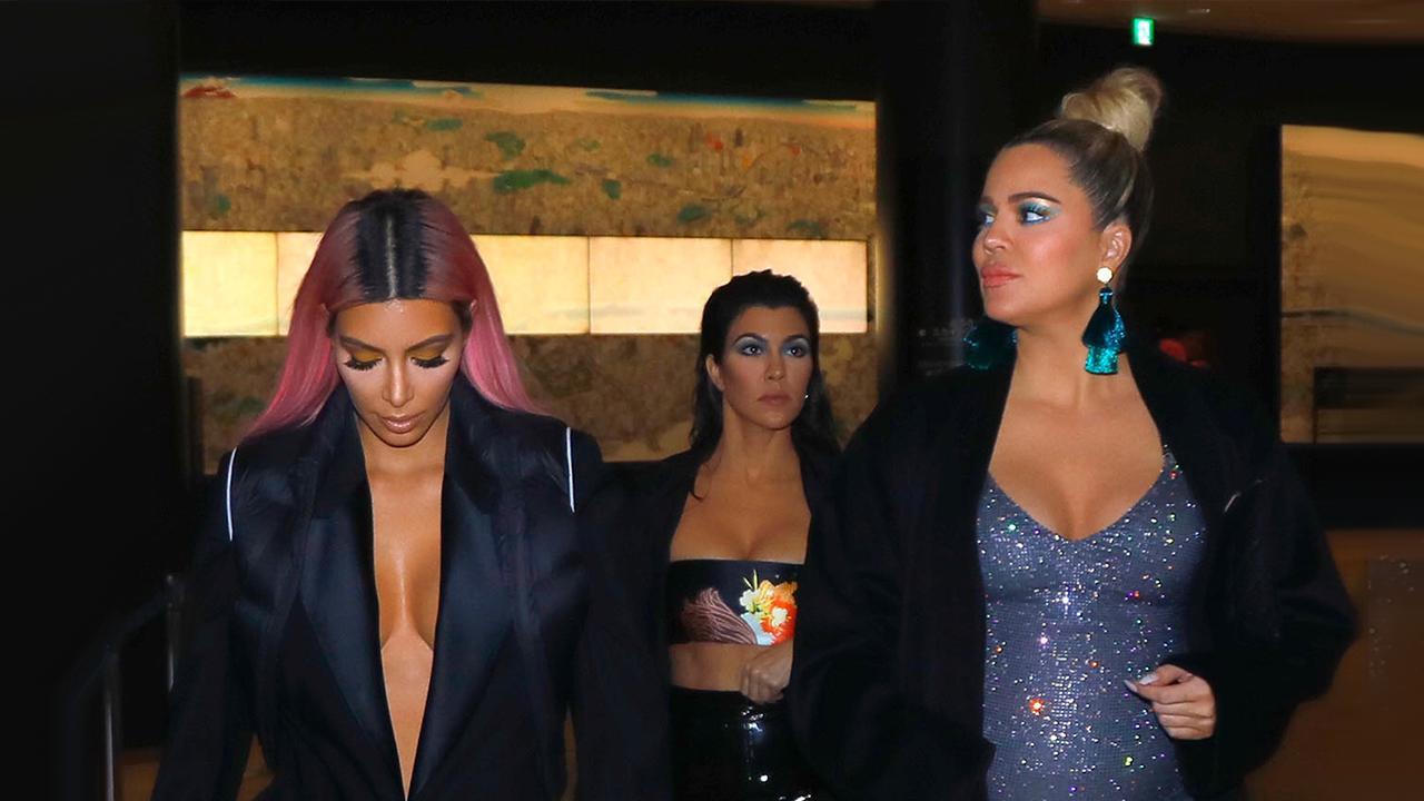 ae24623ffdad3 Pregnant Khloe Kardashian Sparkles With Sisters Kim and Kourtney in Tokyo