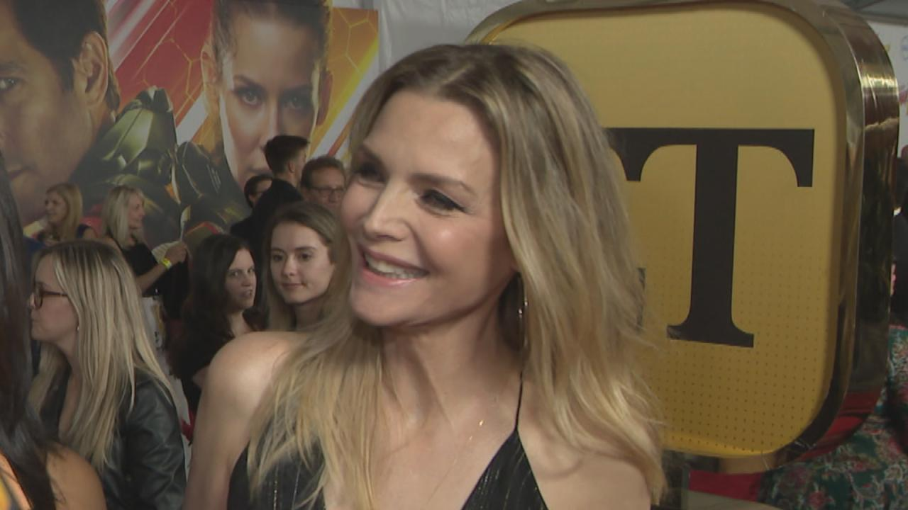 Michelle Pfeiffer Dazzles in a Sparkly Black Jumpsuit at 'Ant-Man