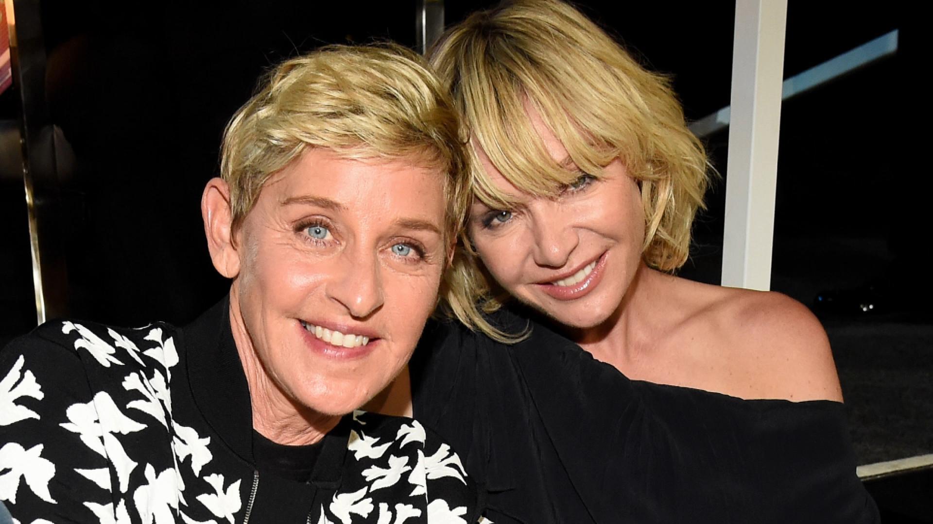 Portia De Rossi Wedding Kiss.Ellen Degeneres Shares A Kiss With Wife Portia De Rossi For