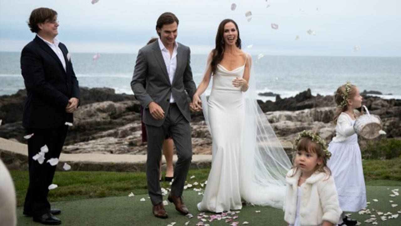 6a5b1bf54e91 Barbara Bush Stuns In Vera Wang Dress for Her Wedding to Craig Coyne ...