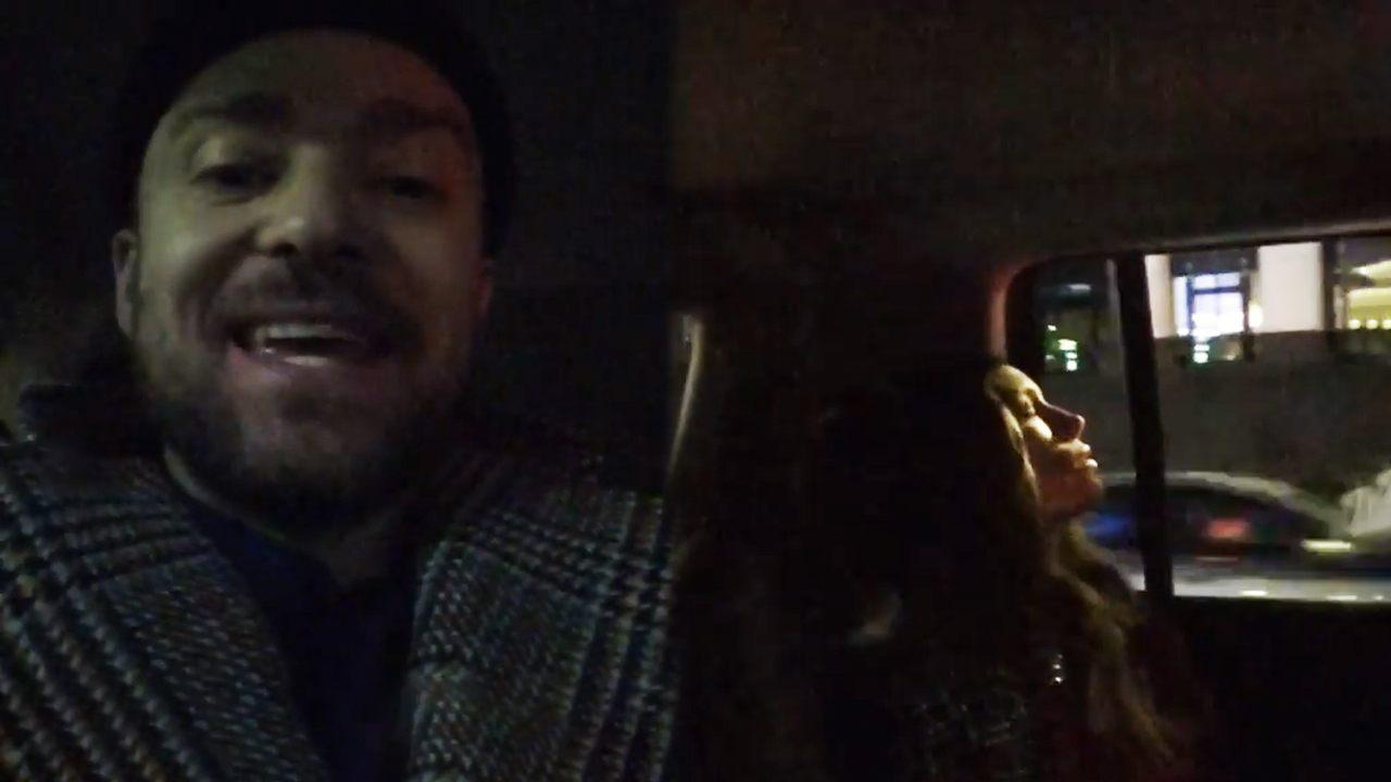 9646e85a06dedc Justin Timberlake Shares Funny Video of Jessica Biel Sleeping on His  Birthday Date Night