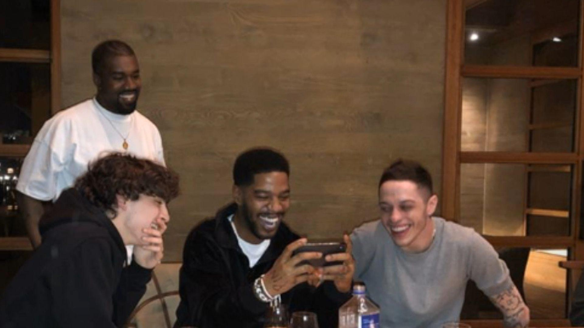 add3237753435d Pete Davidson Hangs Out With Kanye West After Calling Him Out on  SNL