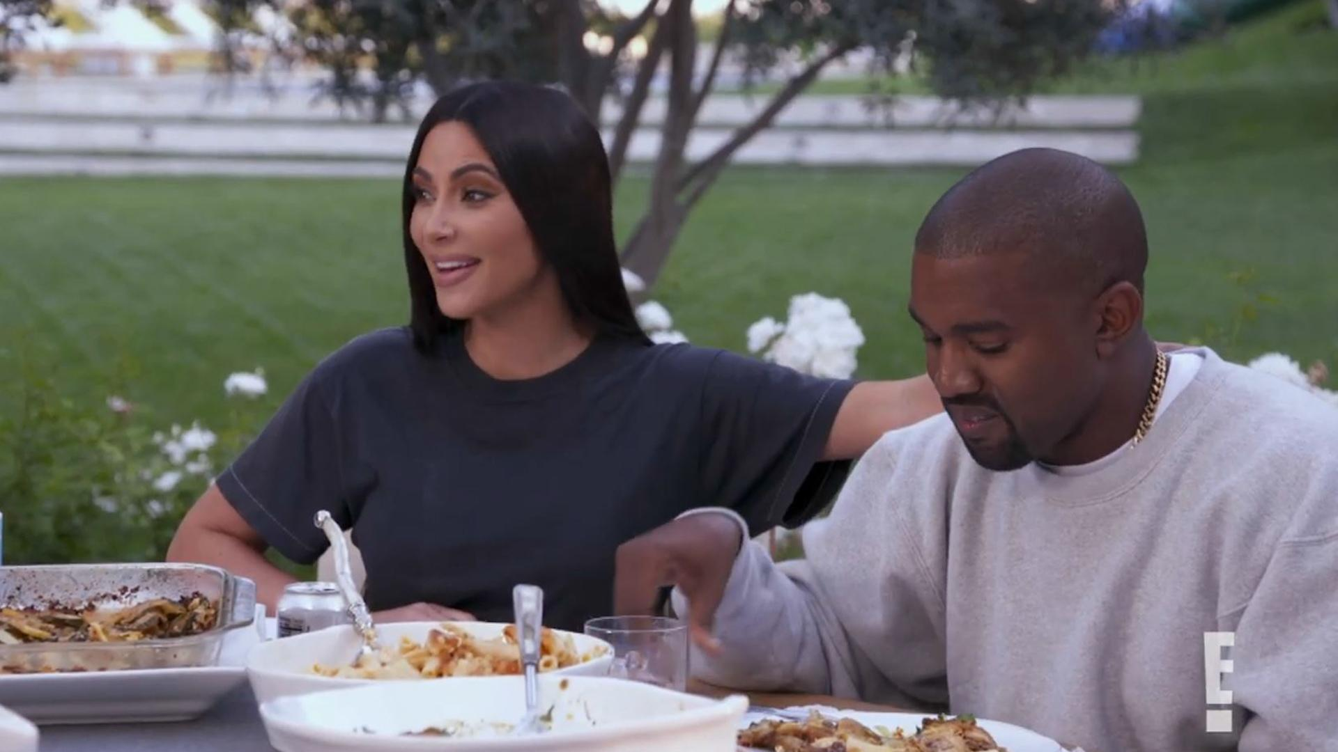 7ad861bef5c2 See Kim Kardashian Tell Her Family She and Kanye West Are Having a ...