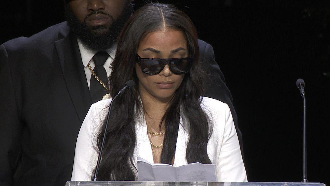 Lauren London Cries at Nipsey Hussle Memorial: 'I've Never