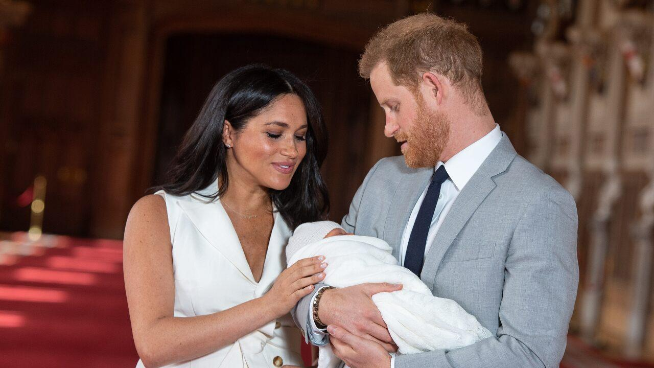 Meghan markle and prince harry debut baby sussex