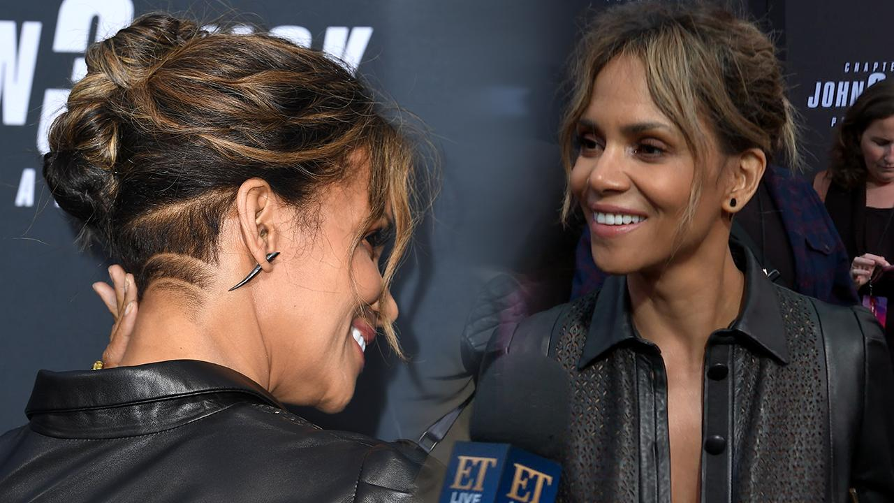 Halle Berry Debuts Buzzed Hairstyle While Talking About Being A