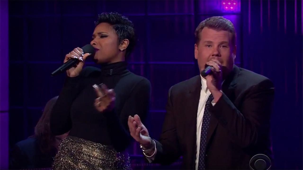 Jennifer Hudson and James Corden Perform Duet to Public Domain Songs on 'Late Late Show'