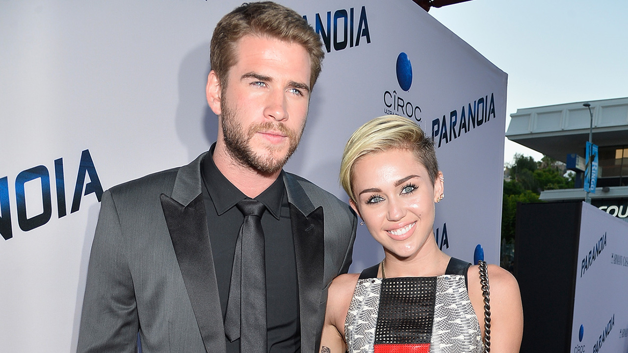 miley cyrus and liam hemsworth enjoy dinner together with