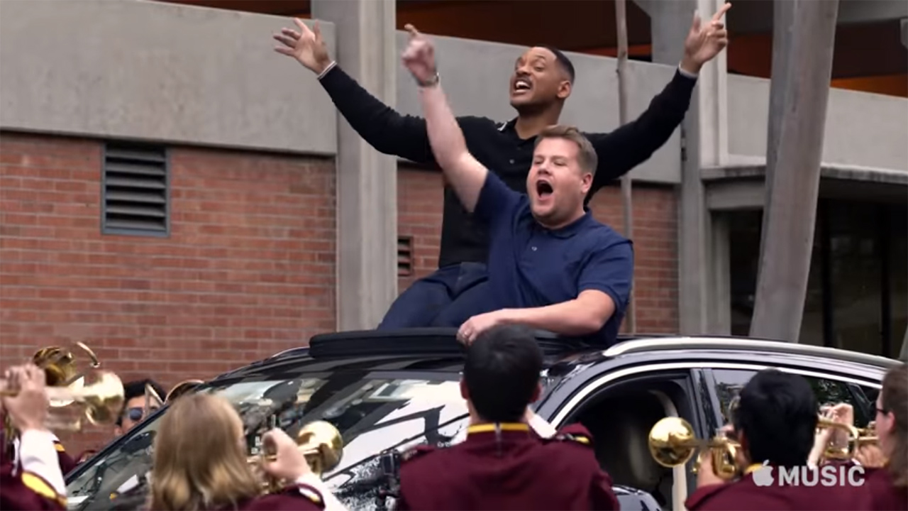 Will smith gets jiggy with james corden in epic celeb for Epic motors san diego