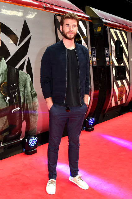 Liam Hemsworth took to Platform 16 at London Euston station today as Virgin Trains unveiled its new complimentary on-board entertainment service, BEAM, on June 6. Photo: Getty Images