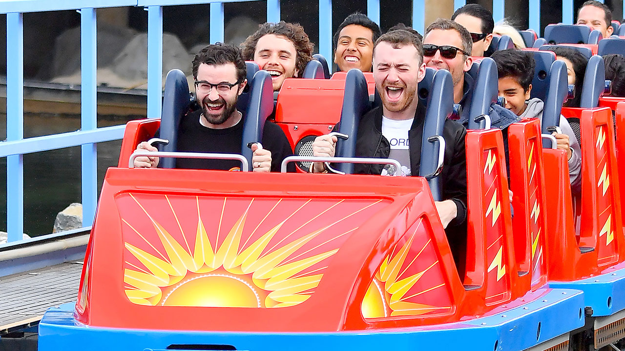 The British crooner screamed his head off at the Happiest Place on Earth! Smith rode rollercoasters and a carousel while visiting Disneyland in Anaheim, California, on Jan. 16, and at one point, he even rocked a pair of Minnie Mouse ears while strolling through the park.
