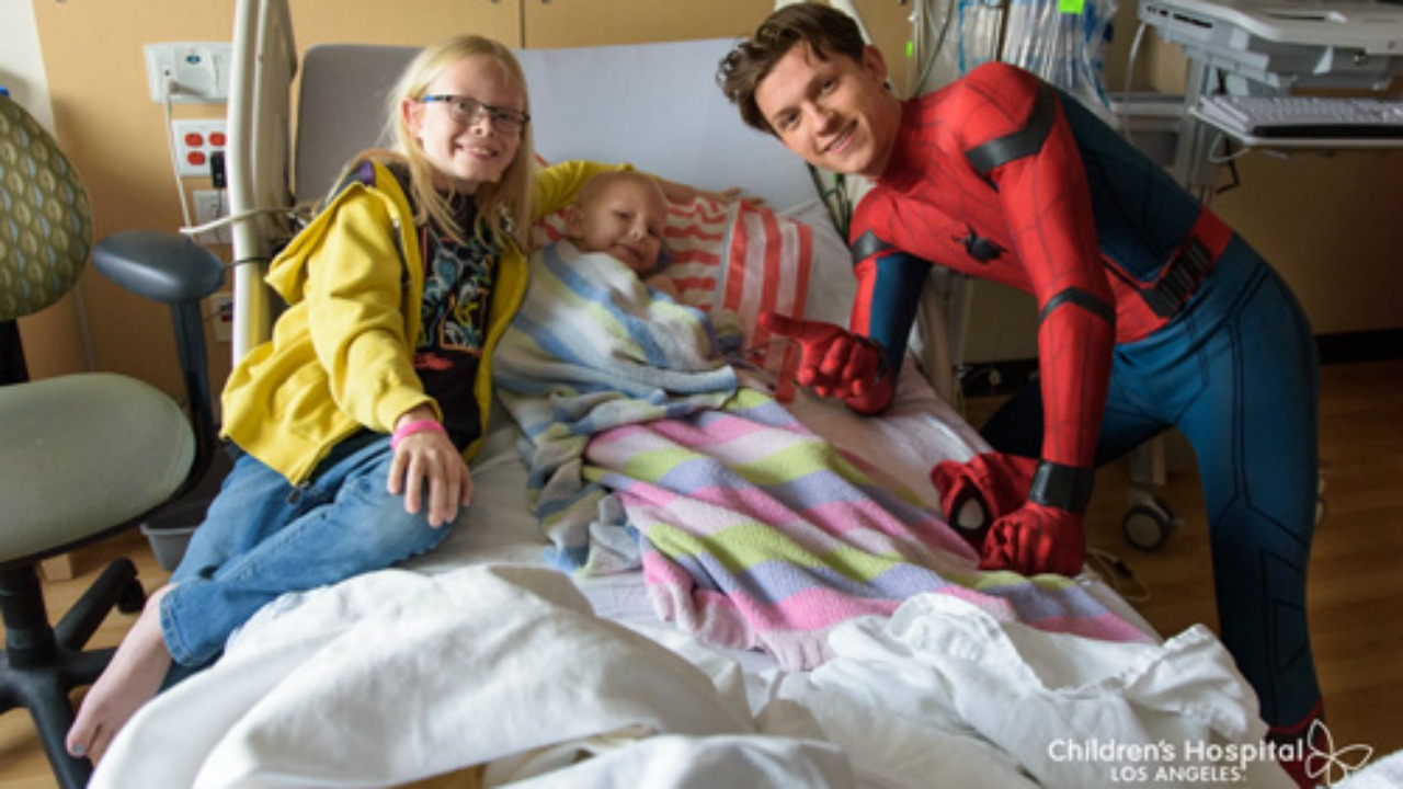 The Spider-Man: Homecoming star swung by Children's Hospital Los Angeles in late May to surprise patients with a special visit. Donning his official suit from the upcoming superhero film, Holland took pictures and shared stories with the kids.