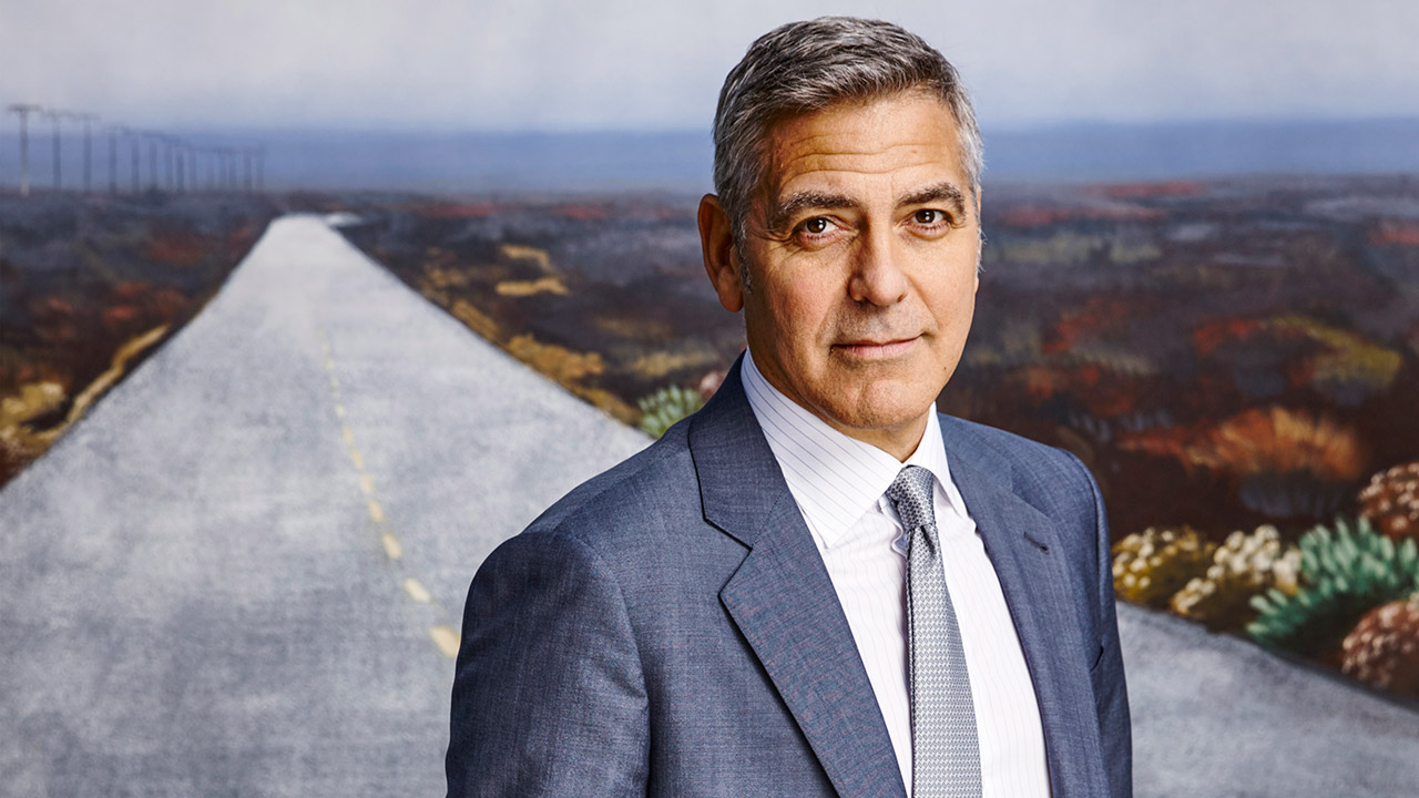 The 57-year old son of father Nick Clooney and mother Nina Warren Clooney, 180 cm tall George Clooney in 2018 photo