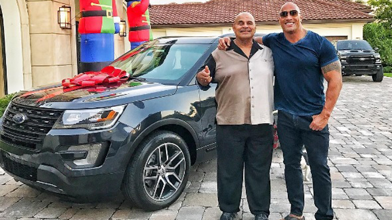 Dwayne 'The Rock' Johnson Surprises Dad With a New Car, Shares H