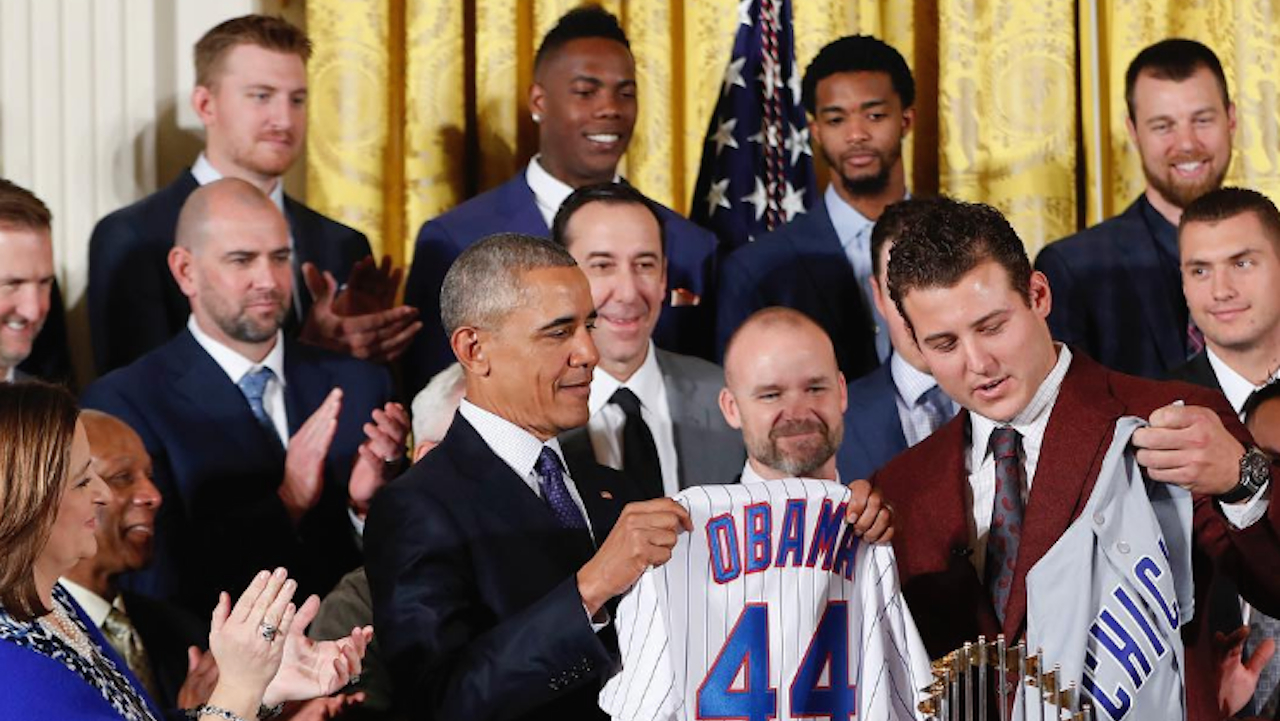 President Obama Welcomes Chicago Cubs at the White House for Final Official Visit -- See the Pics!