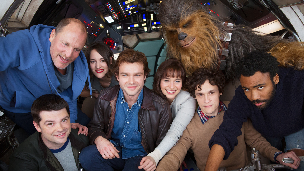 Stars of Han Solo 'Star Wars' Spinoff Squeeze Into Millennium Falcon Cockpit for First Cast Photo