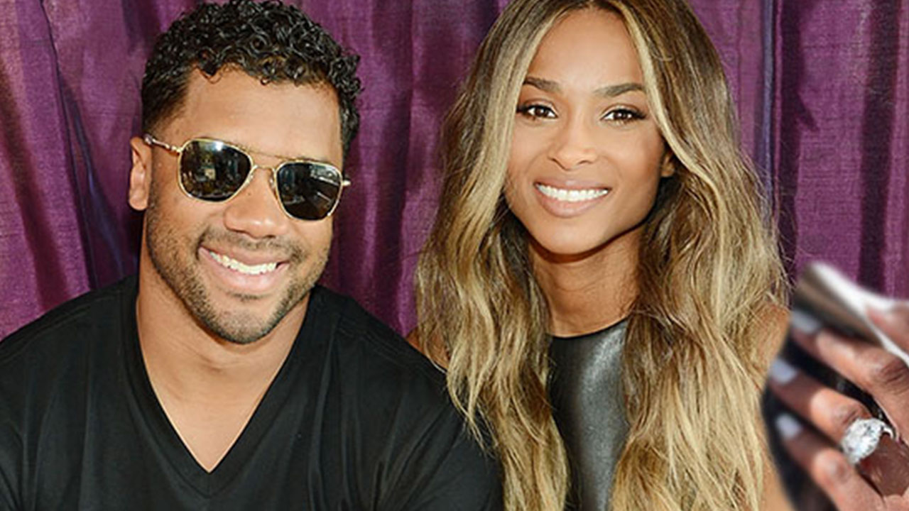 Ciara Flashes Her Giant 16-Carat Sparkler in First Post-Engagement Appearance With Fiance Russell Wilson