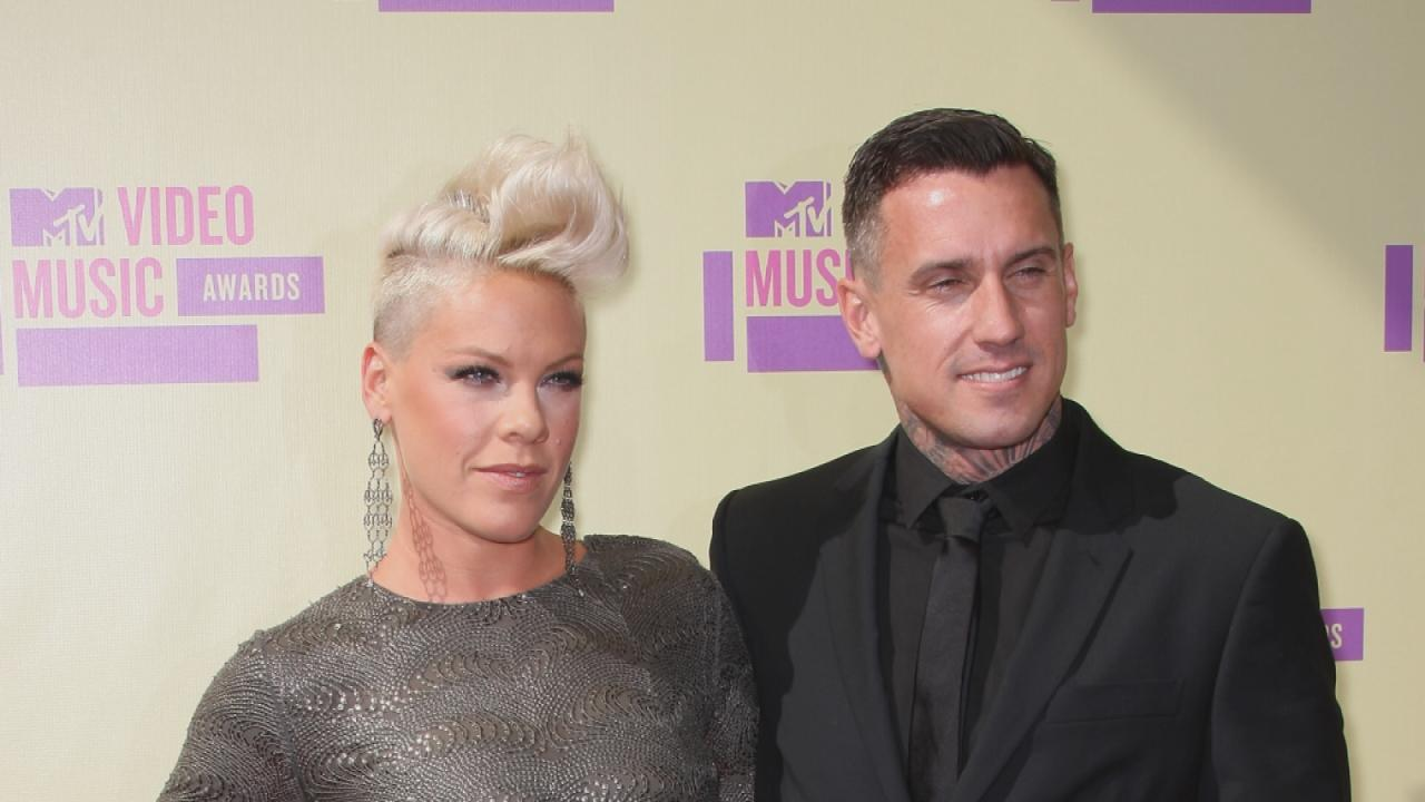 Pink Jokes About Combative Marriage With Carey Hart, Says They're 'Due' for a Break