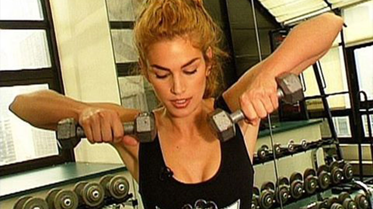 Cindy Crawford Shares Throwback Gym Pic To Inspire 2017